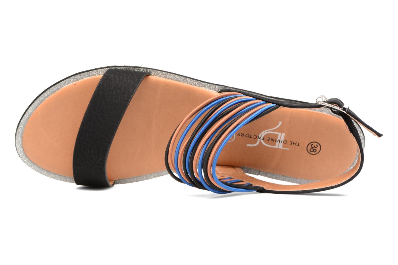 Sandales et nu-pieds Divine Factory Matage Noir vue gauche