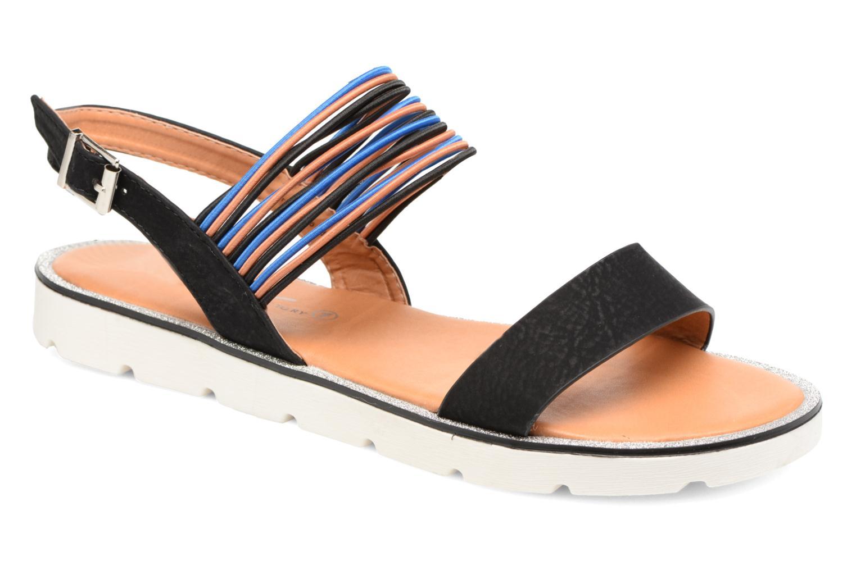 Sandales et nu-pieds Divine Factory Matage Noir vue détail/paire