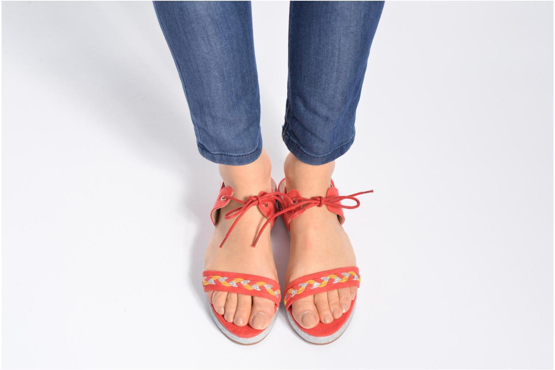Sandales et nu-pieds Divine Factory Oko Bleu vue bas / vue portée sac