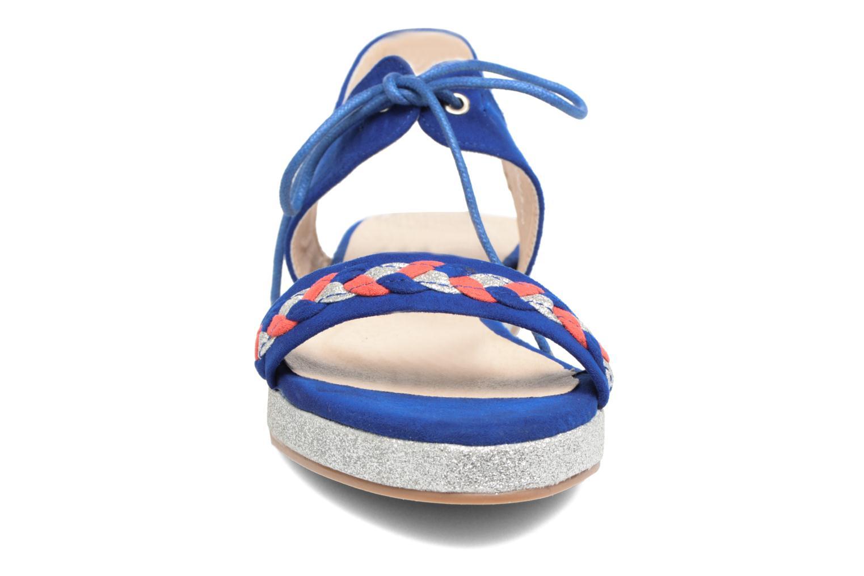 Sandales et nu-pieds Divine Factory Oko Bleu vue portées chaussures