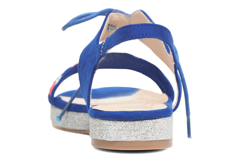 Sandales et nu-pieds Divine Factory Oko Bleu vue droite