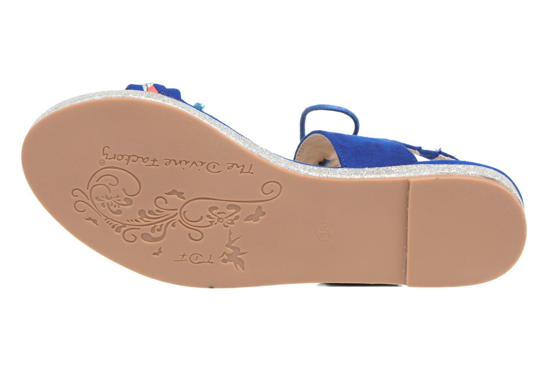 Sandales et nu-pieds Divine Factory Oko Bleu vue haut