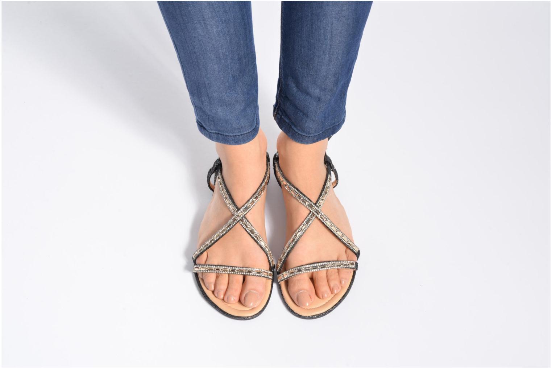Sandales et nu-pieds Divine Factory Imi Noir vue bas / vue portée sac