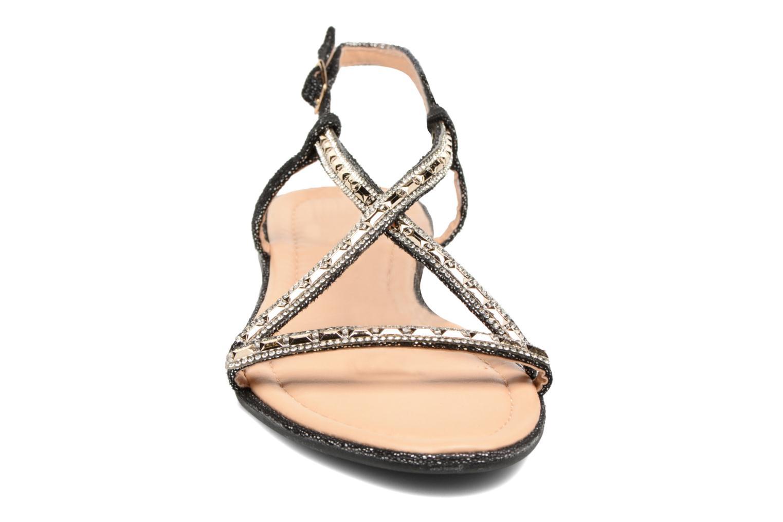 Sandales et nu-pieds Divine Factory Imi Noir vue portées chaussures
