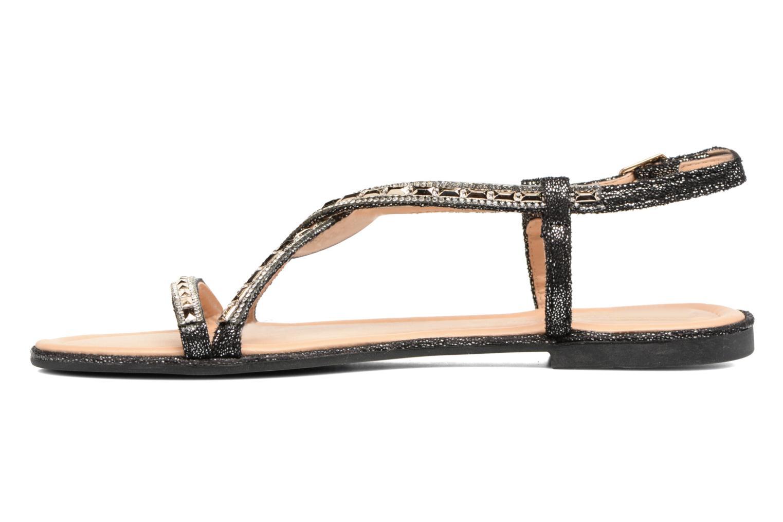 Sandales et nu-pieds Divine Factory Imi Noir vue face