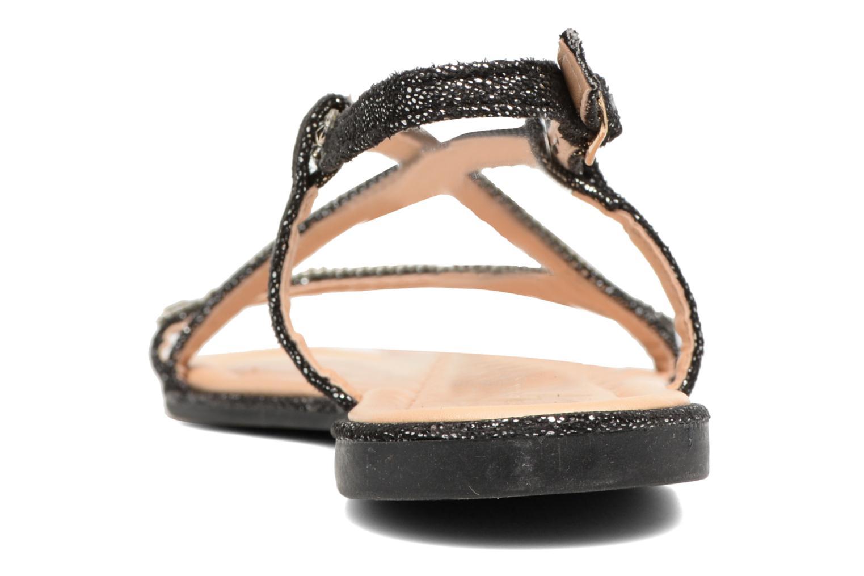 Sandales et nu-pieds Divine Factory Imi Noir vue droite