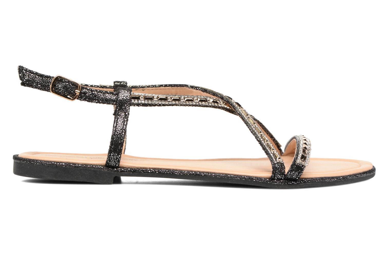 Sandales et nu-pieds Divine Factory Imi Noir vue derrière