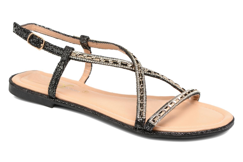 Sandales et nu-pieds Divine Factory Imi Noir vue détail/paire