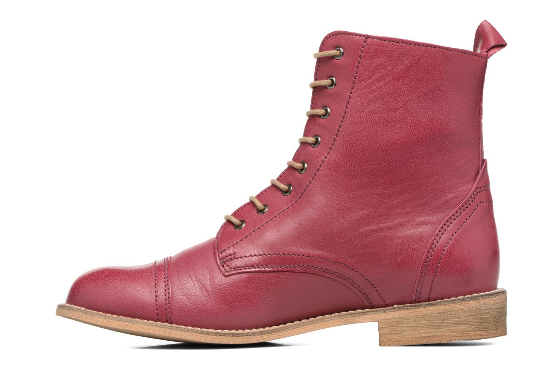 Ankle boots Ippon Vintage Denim Road Burgundy front view