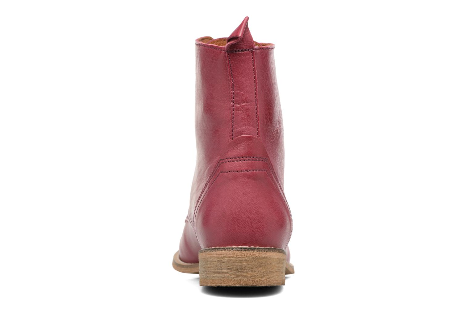 Ankle boots Ippon Vintage Denim Road Burgundy view from the right