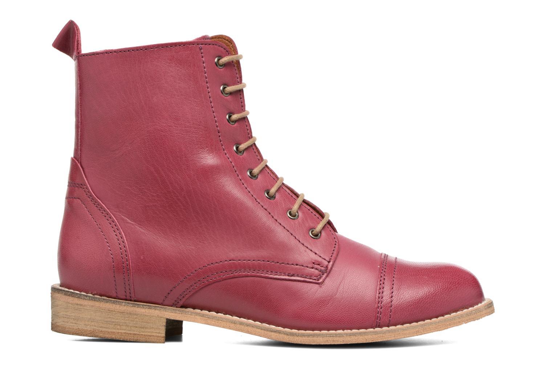 Ankle boots Ippon Vintage Denim Road Burgundy back view