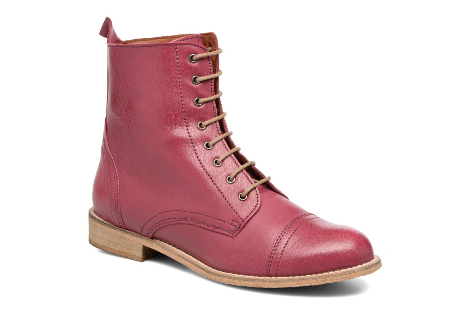 Ankle boots Ippon Vintage Denim Road Burgundy detailed view/ Pair view