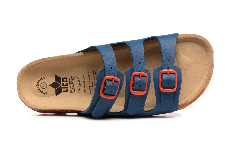 Sandales et nu-pieds LICO Bioline Kids Bleu vue gauche