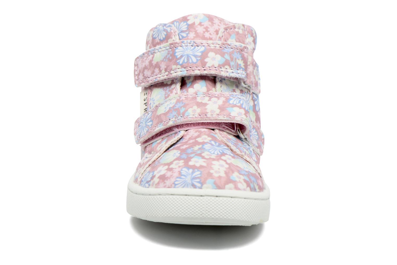 Baskets Esprit JOJO FLOWERS Rose vue portées chaussures