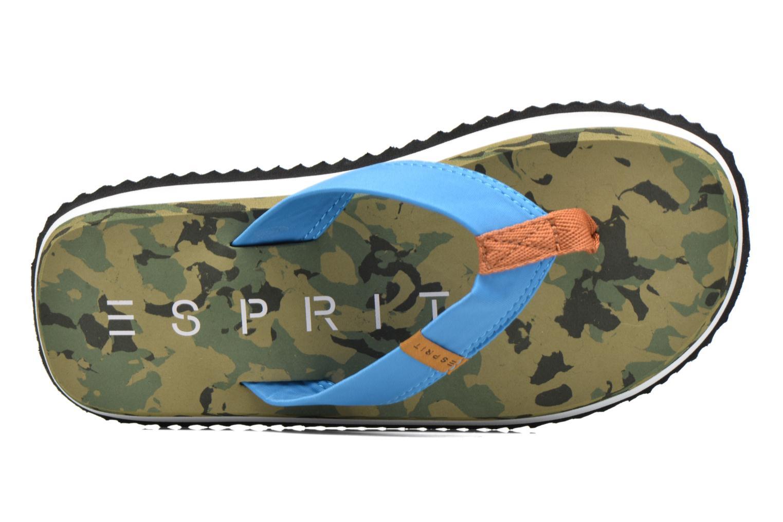Tongs Esprit CAMOU SURF Vert vue gauche