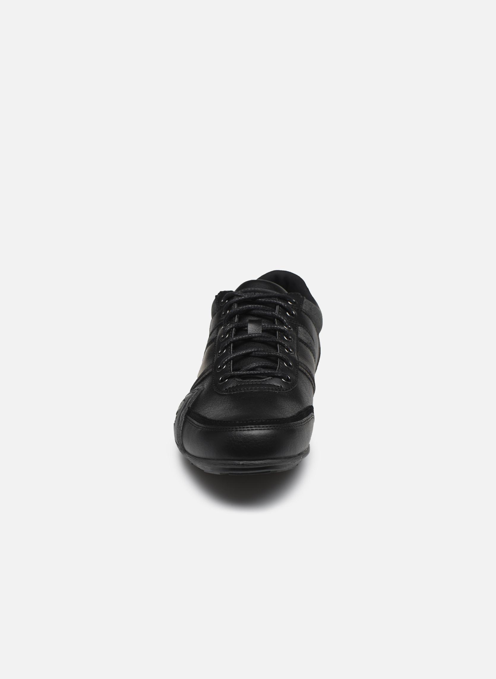 Baskets Le Coq Sportif Andelot S Lea/Suede Noir vue portées chaussures