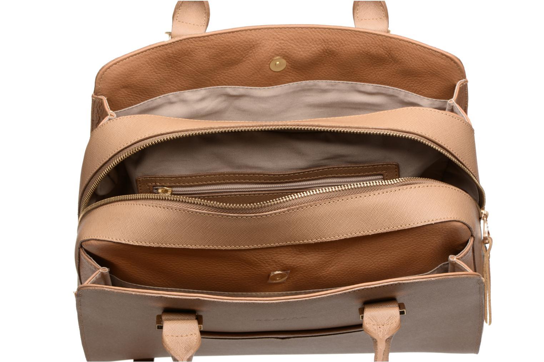 Handtassen Sabrina Carolina Bruin achterkant