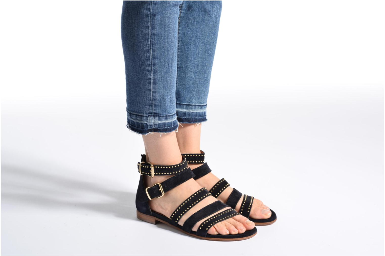 Sandales et nu-pieds Billi Bi Cortina Bleu vue bas / vue portée sac