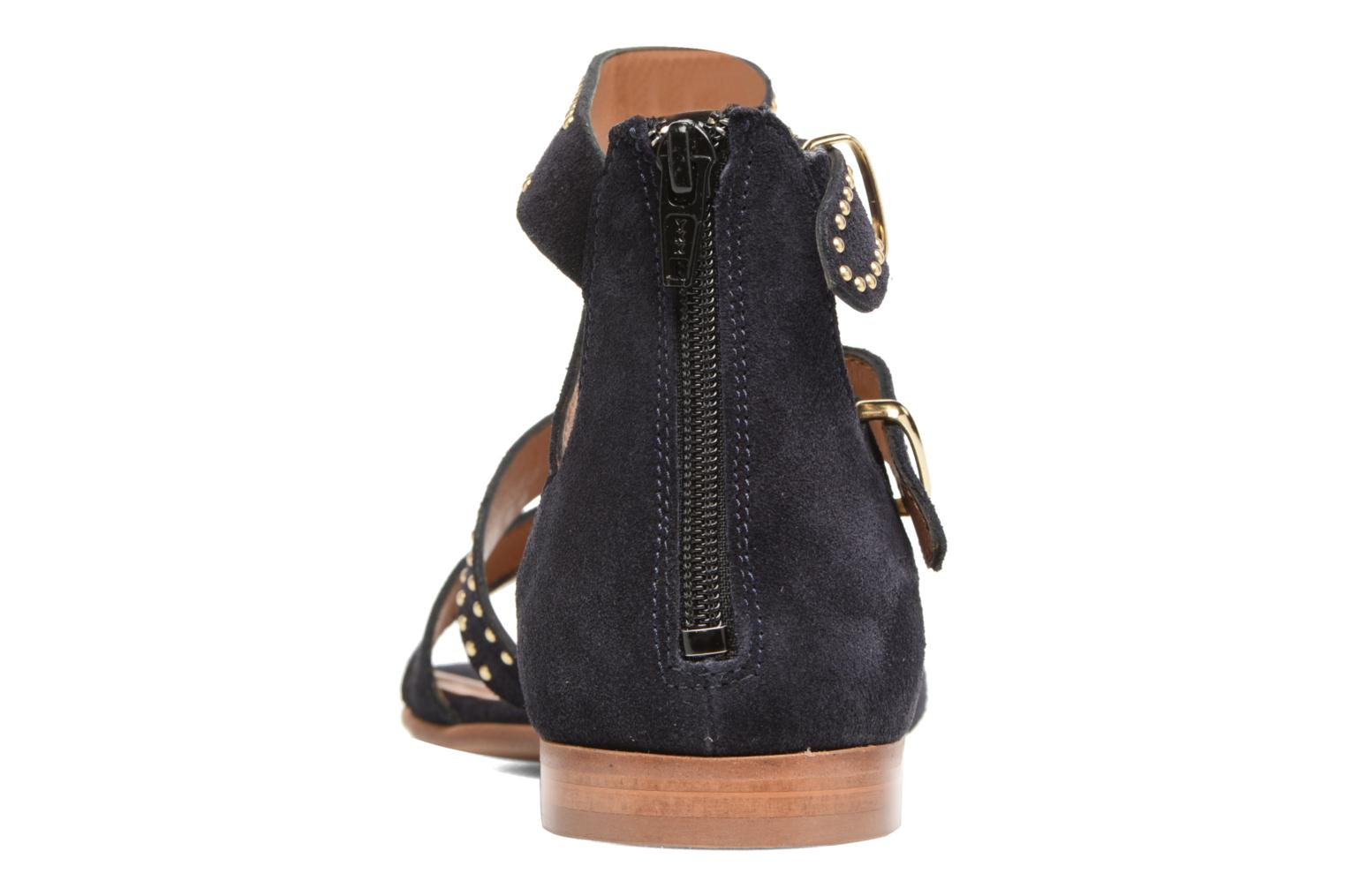 Cortina Navy Suede / gold