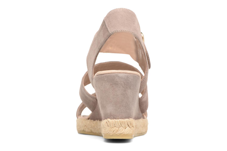 Sandales et nu-pieds Billi Bi Eléa Marron vue droite