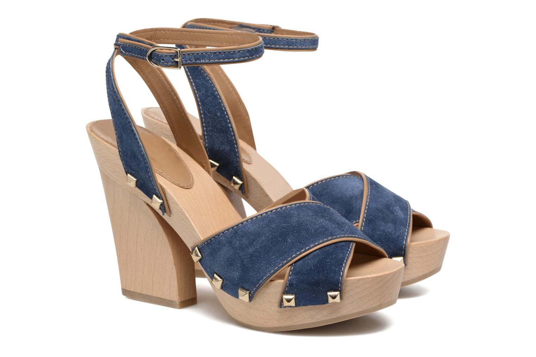 Sandales et nu-pieds Sonia Rykiel Sandale Sabot Bleu vue 3/4