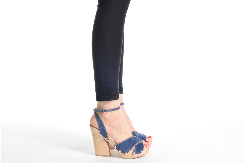 Sandales et nu-pieds Sonia Rykiel Sandale Sabot Bleu vue bas / vue portée sac