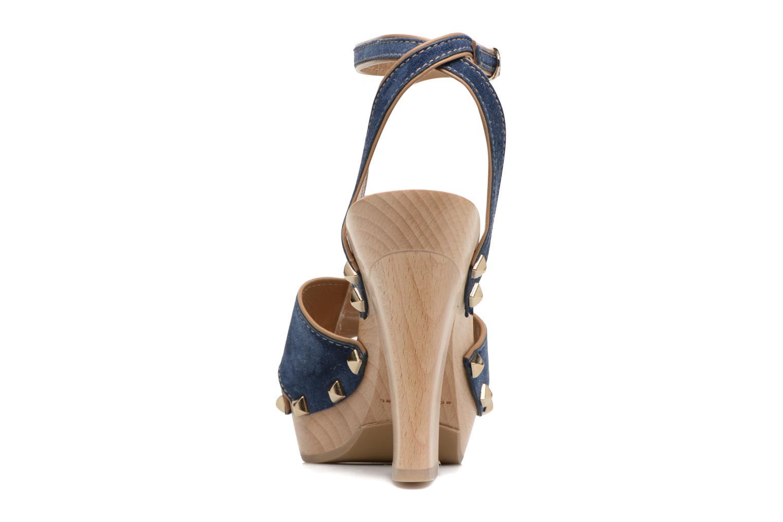 Sandale Sabot Cuir Denim Vintage