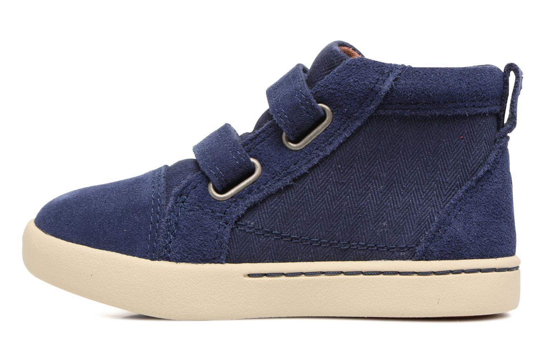 Chaussures à scratch UGG Rennon Herringbone Bleu vue face