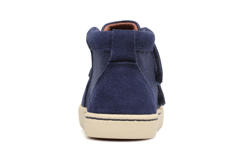 Chaussures à scratch UGG Rennon Herringbone Bleu vue droite