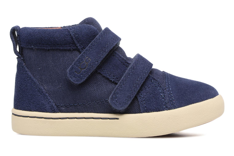 Chaussures à scratch UGG Rennon Herringbone Bleu vue derrière