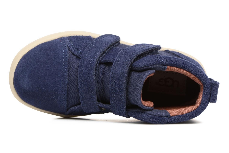 Chaussures à scratch UGG Rennon Herringbone Bleu vue gauche