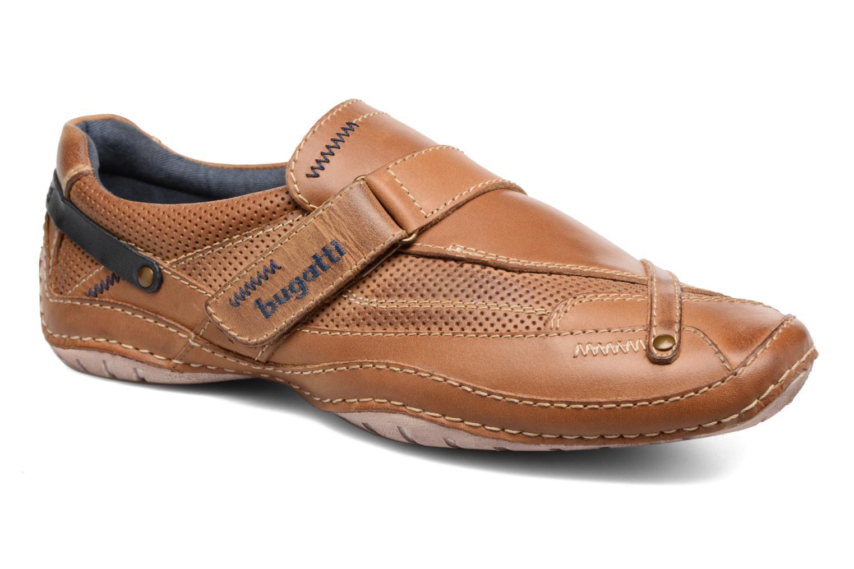 Chaussures à scratch Bugatti Bambao Marron vue détail/paire