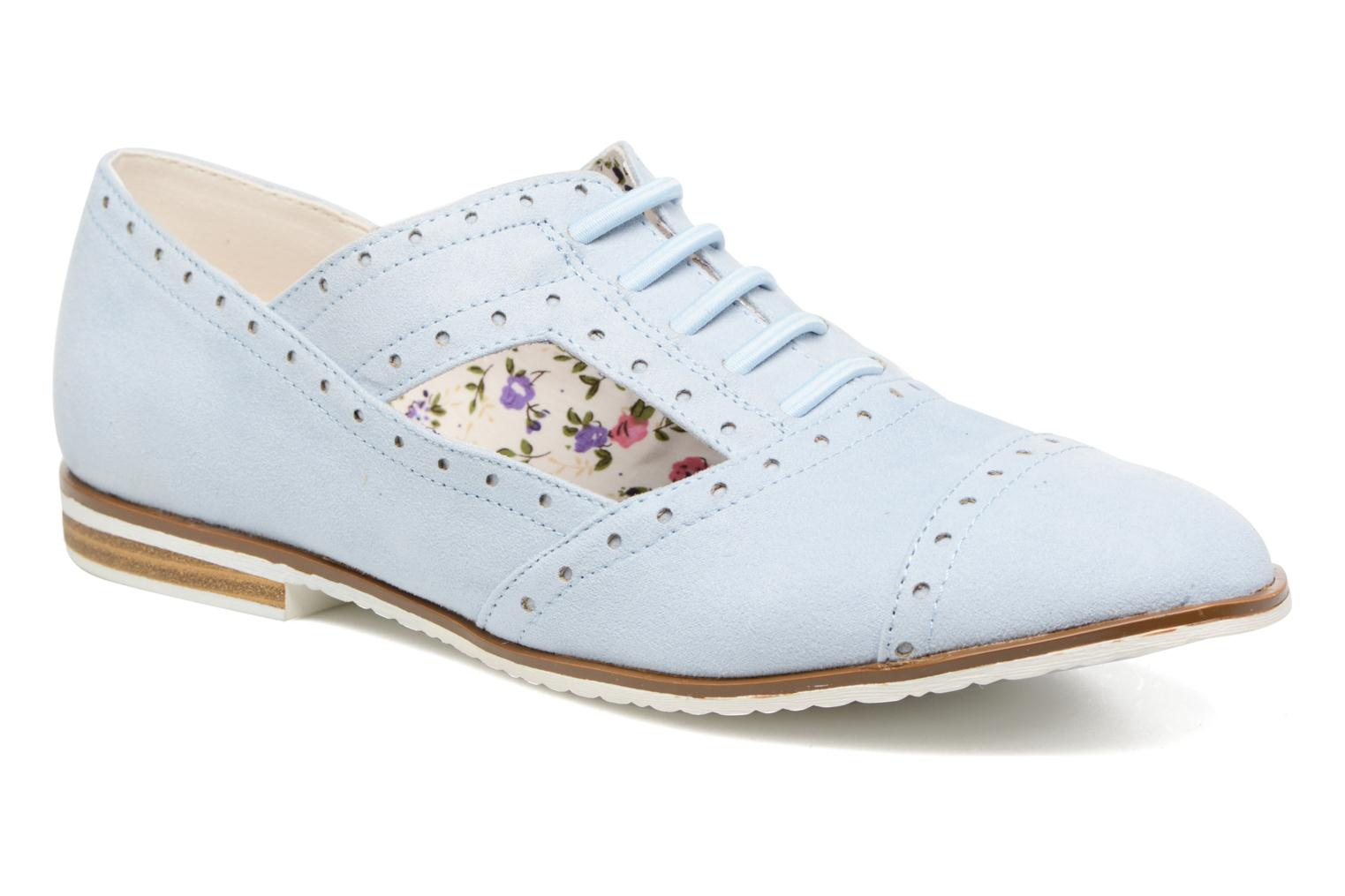 Lace-up shoes I Love Shoes BLEST Blue detailed view/ Pair view