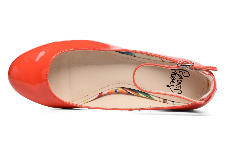 Bailarinas I Love Shoes BLIJ Rojo vista lateral izquierda