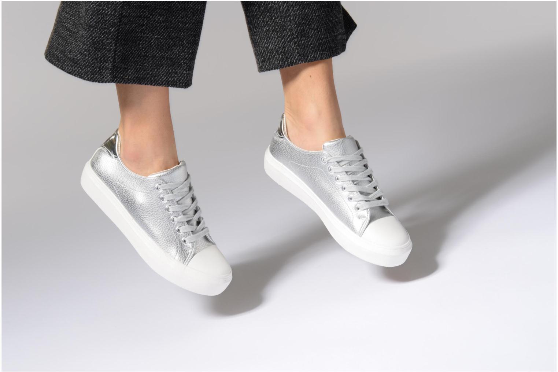 Baskets I Love Shoes BLIDE Blanc vue bas / vue portée sac