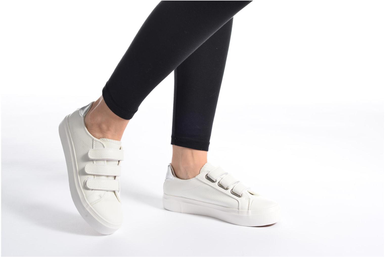 Baskets I Love Shoes BLOIVE Blanc vue bas / vue portée sac