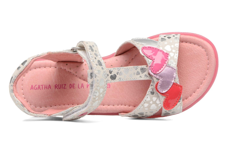 Sandales et nu-pieds Agatha Ruiz de la Prada Swing 1 Blanc vue gauche