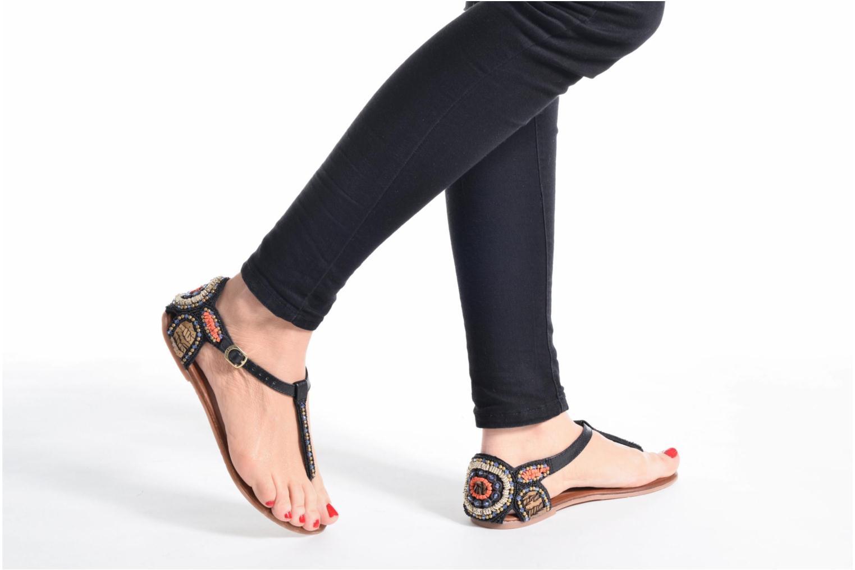 Sandales et nu-pieds Gioseppo Amira Marron vue bas / vue portée sac