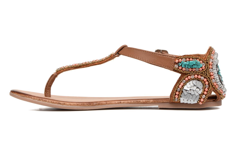 Sandales et nu-pieds Gioseppo Amira Marron vue face