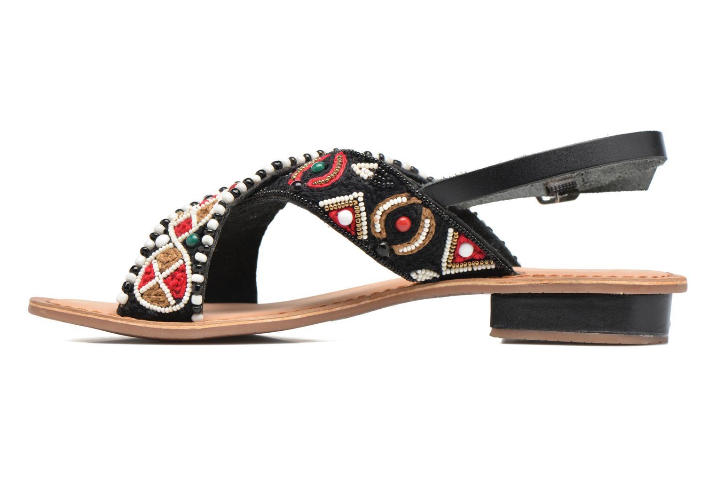 Sandales et nu-pieds Gioseppo Mihai Noir vue face