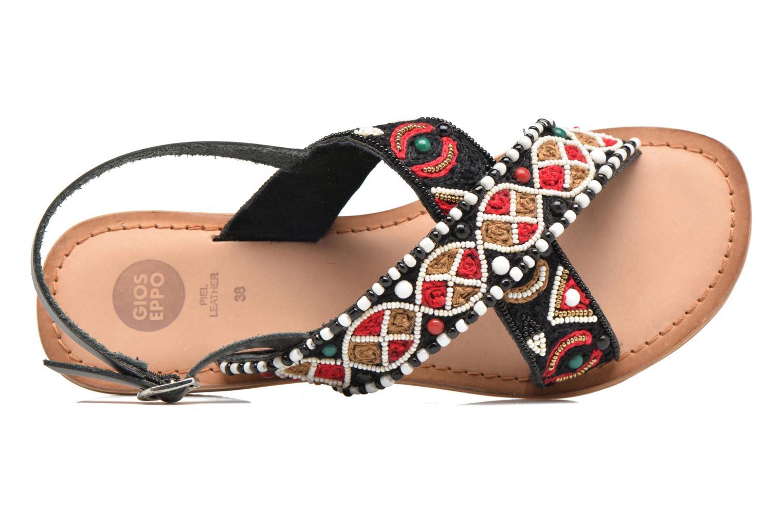 Sandales et nu-pieds Gioseppo Mihai Noir vue gauche