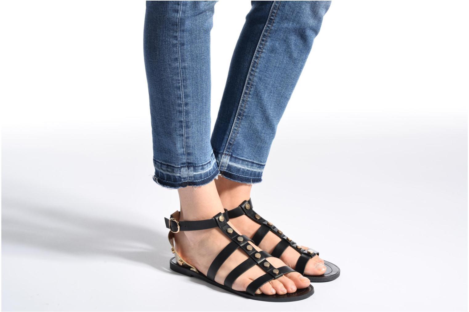Sandales et nu-pieds I Love Shoes THEAHIGHT Noir vue bas / vue portée sac