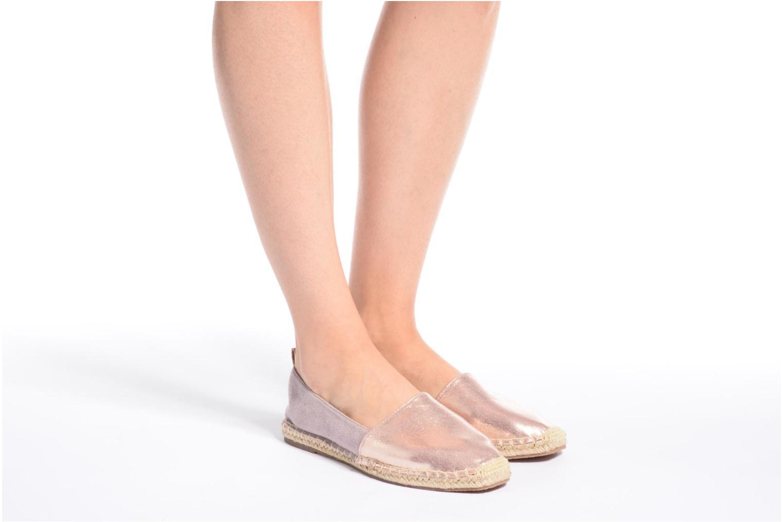 Alpargatas I Love Shoes THETE Rosa vista de abajo