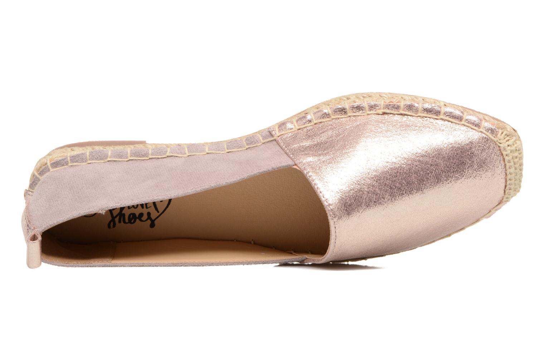 Alpargatas I Love Shoes THETE Rosa vista lateral izquierda