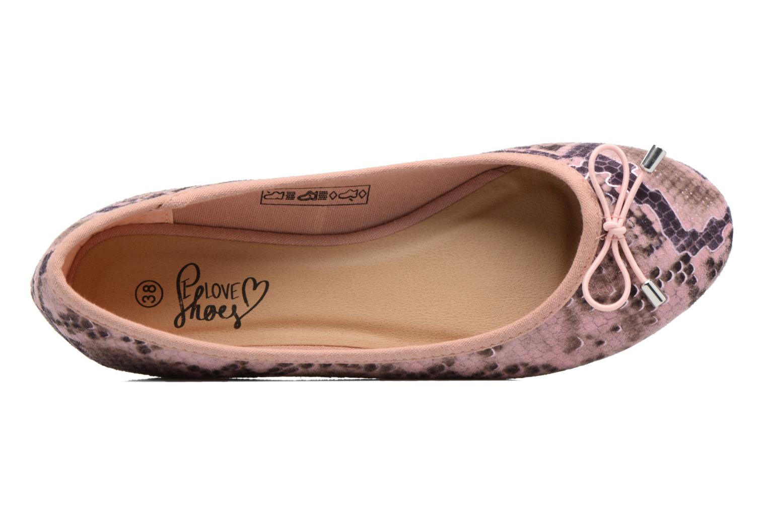 Ballet pumps I Love Shoes THENSELY Pink view from the left