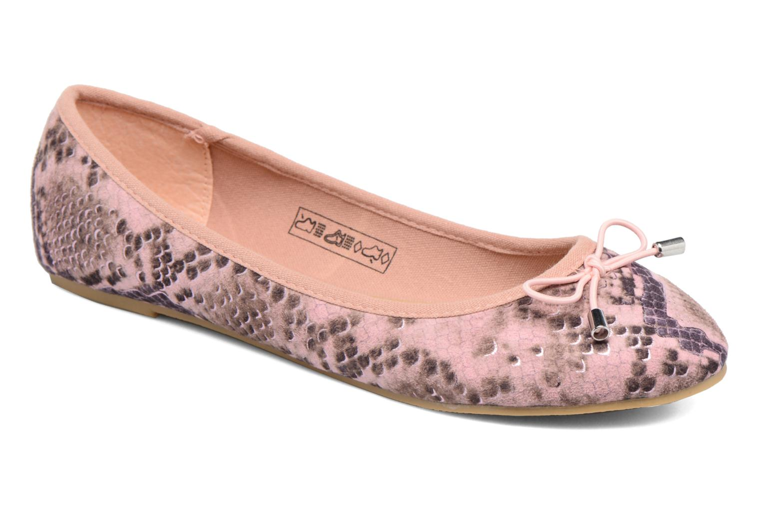 Ballerines I Love Shoes THENSELY Rose vue détail/paire