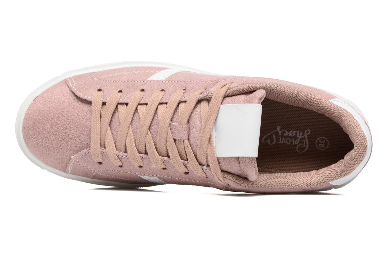 Deportivas I Love Shoes THEMI Rosa vista lateral izquierda