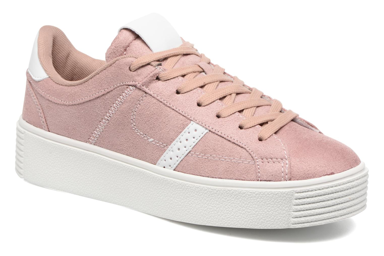 Baskets I Love Shoes THEMI Rose vue détail/paire