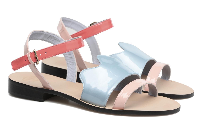 Sandales et nu-pieds Apologie Vague Bleu vue 3/4