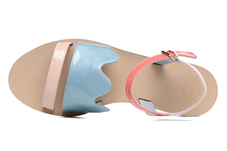 Sandales et nu-pieds Apologie Vague Bleu vue gauche